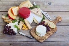 Bandeja Assorted do queijo Foto de Stock Royalty Free