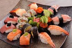 Bandeja Assorted do sushi Imagem de Stock Royalty Free