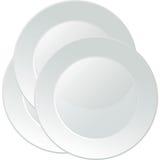 Bandeja branca do serviço da porcelana Fotos de Stock