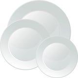 Bandeja branca do serviço da porcelana Imagens de Stock