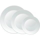 Bandeja branca do serviço da porcelana Imagem de Stock Royalty Free