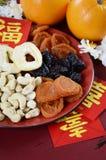 Bandeja china del partido de la celebración del Año Nuevo de unidad Imagen de archivo libre de regalías