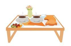 Bandeja com alimento para o café da manhã ilustração royalty free