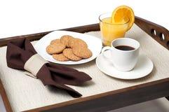 Bandeja com pequeno almoço Foto de Stock