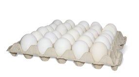 Bandeja con los huevos Fotografía de archivo libre de regalías