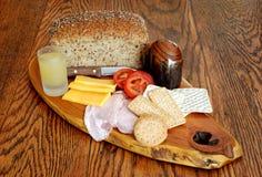 Bandeja continental do pequeno almoço do estilo Fotos de Stock