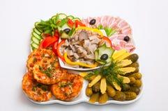 Bandeja da carne servida nos restaurantes e nos cafés foto de stock royalty free