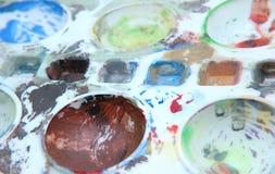 Bandeja da cor de água Imagens de Stock