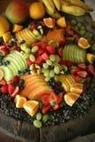 Bandeja da fruta fresca fotografia de stock