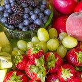 Bandeja da fruta fresca Foto de Stock Royalty Free