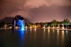 Bandeja da fundição em um lago artificial Imagens de Stock