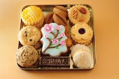 Bandeja das cookies fotos de stock royalty free