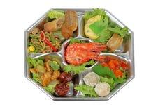 Bandeja das variedades do camarão imagem de stock