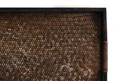 Bandeja de bambu da textura Foto de Stock
