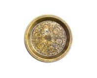 Bandeja de bronce antigua Fotografía de archivo libre de regalías