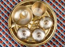 Bandeja de bronze da série dos mercadorias do alimento Imagens de Stock