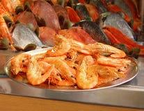 Bandeja de camarón Imagen de archivo