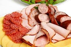 Bandeja de carnes frias Foto de Stock