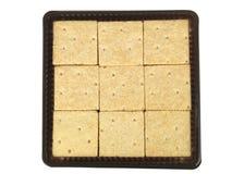 Bandeja de cuadrados de la torta dulce Imágenes de archivo libres de regalías