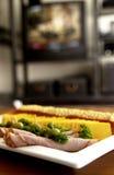Bandeja de la carne y de queso Fotos de archivo libres de regalías