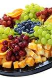 Bandeja de la fruta fotos de archivo