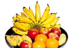 Bandeja de la fruta Foto de archivo libre de regalías