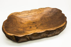 Bandeja de la fruta hecha de la madera de la teca Fotos de archivo libres de regalías