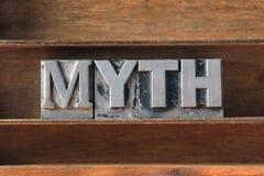 Bandeja de la palabra del mito foto de archivo