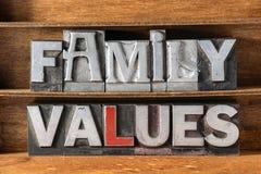 Bandeja de los valores familiares Fotografía de archivo libre de regalías