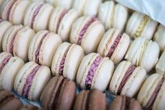 Bandeja de macarrones deliciosos Foto de archivo libre de regalías