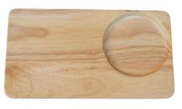 Bandeja de madeira Fotografia de Stock