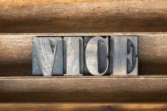 Bandeja de madeira vice Fotografia de Stock