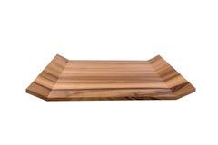 Bandeja de madera Foto de archivo libre de regalías