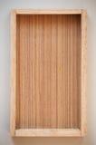 Bandeja de madera de la caja Imagen de archivo