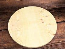 Bandeja de madera en la tabla imagenes de archivo
