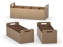 A bandeja de original com separadores, trajeto do papel de embalagem de grampeamento inclui ilustração do vetor