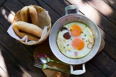 Bandeja de pão do ovo com Vietname Foto de Stock