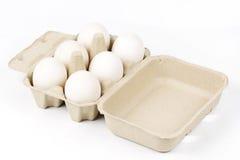 Bandeja de papel del huevo Imagenes de archivo