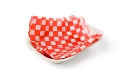 Bandeja de papel do fast food Imagem de Stock