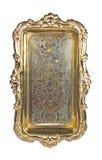 Bandeja de plata de la antigüedad Imagen de archivo libre de regalías