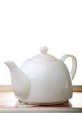 Bandeja de té con la tetera Foto de archivo