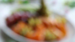 Bandeja de uma fruta fresca assorted video estoque