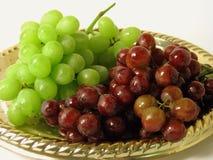 Bandeja de uvas Imagens de Stock Royalty Free