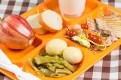 Bandeja del almuerzo escolar Imagen de archivo