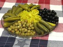 Bandeja del condimento Foto de archivo libre de regalías