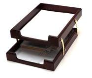 Bandeja del papel de madera Imagen de archivo