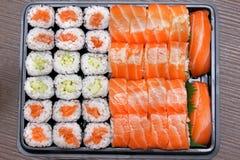 Bandeja del sushi Imagen de archivo libre de regalías
