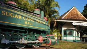 Bandeja do estação de caminhos de ferro e do trem do cana-de-açúcar video estoque