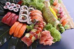 Bandeja do partido do sushi Fotografia de Stock