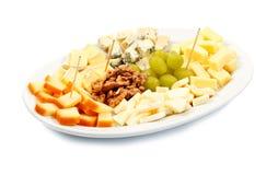 Bandeja do queijo Imagens de Stock Royalty Free